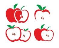 Emblemen van appelen Stock Fotografie