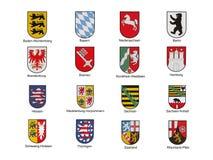 Emblemen van Duits federaal land Stock Foto's