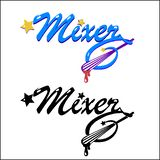 Emblemen voor het Mixerbedrijf Stock Afbeeldingen