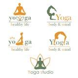 Emblemen voor yogastudio Stock Afbeelding