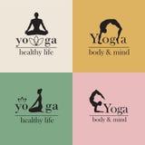 Emblemen voor yogastudio Stock Afbeeldingen