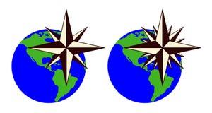 Emblemet av kompasset steg Fotografering för Bildbyråer