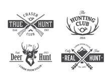 Emblemi d'annata di caccia illustrazione vettoriale