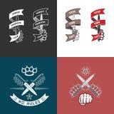 Emblemi del club di rissa per strada Fotografie Stock Libere da Diritti