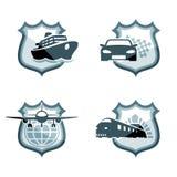 Emblemi del trasporto Fotografia Stock Libera da Diritti