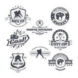 Emblemi dell'hockey Immagini Stock Libere da Diritti