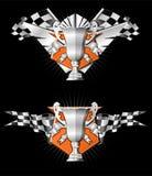Emblemi della corsa di sport Immagini Stock