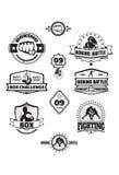 Emblemi della scatola Fotografia Stock Libera da Diritti
