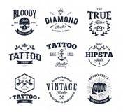 Emblemi dello studio del tatuaggio illustrazione di stock
