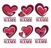 Emblemi di amore Fotografia Stock