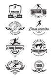 Emblemi di atletica Fotografia Stock