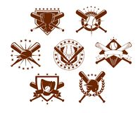 Emblemi di baseball messi Immagine Stock