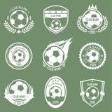 Emblemi di calcio Fotografia Stock