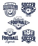 Emblemi di calcio di vettore Immagine Stock Libera da Diritti
