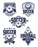 Emblemi di calcio di vettore Fotografia Stock