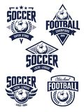 Emblemi di calcio di vettore Immagini Stock