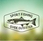 Emblemi di color salmone d'annata di pesca Immagine Stock