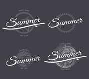 Emblemi di estate messi Immagini Stock