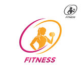 Emblemi di forma fisica, progettazione di logo fotografia stock libera da diritti