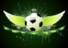 Emblemi di gioco del calcio Fotografia Stock