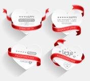 Emblemi di giorno di biglietti di S. Valentino Fotografia Stock