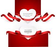 Emblemi di giorno di biglietti di S. Valentino Fotografia Stock Libera da Diritti