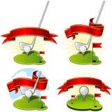Emblemi di golf Fotografie Stock Libere da Diritti