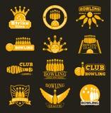 Emblemi di logo di bowling di vettore Fotografia Stock