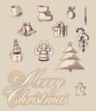 Emblemi di Merrycristmas Immagine Stock Libera da Diritti