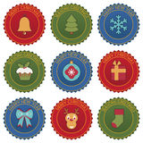 Emblemi di Natale Immagini Stock
