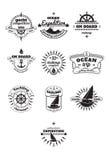 Emblemi di navigazione da diporto Immagini Stock