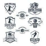 Emblemi di pallacanestro Fotografie Stock Libere da Diritti