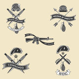 Emblemi militari Immagini Stock Libere da Diritti