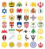 Emblemi nazionali Immagine Stock Libera da Diritti