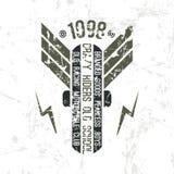 Emblemmotorcykelklubba i retro stil Arkivbild