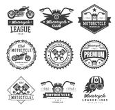 Emblemmotorcykelsamlingar vektor illustrationer