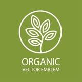 Emblemn orgánico abstracto del vector stock de ilustración