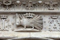 Emblemof del puerco espín la casa de Orleans. Imágenes de archivo libres de regalías