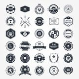 Emblems, badges and retro seals - blazons and labels royalty free illustration