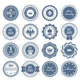 Emblems, badges and stamps - awards and seals vector illustration