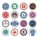 Emblems, badges and stamps - prize seals vector illustration
