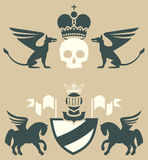 Heraldic emblems Stock Photos