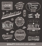 Emblems and labels of quality and guaranteed Royalty Free Stock Photos