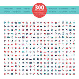 Emblems  Logo  300 Flat  Icons Collection Royalty Free Stock Photography