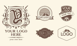 Emblems & logos Stock Photography