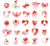 Emblems on love Stock Image