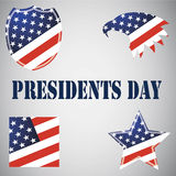 Emblems for the Presidents Day in USA. Stock Photo