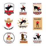 Emblems Set Of Rodeo Royalty Free Stock Images