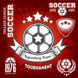 Emblems on the theme of soccer, football icons and design elements. Stock Photography
