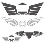 Emblems with wings Royalty Free Stock Image